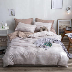 Pure Cotton Simple Style plaid bedding sets bed linen duvet cover flat sheet Bedding Set Full King Single Queen,bed set 2020