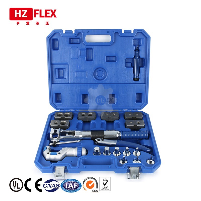 Hydraulic Pipe Expander Set Brake Pipe Fuel Line Flaring Tools KIt Stainless Steel Cup-Shaped Mouth For Cup-Shaped Horn image