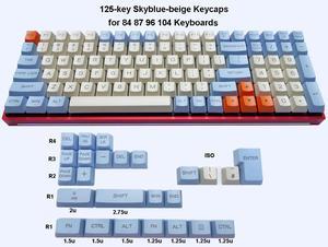 Image 2 - Механическая клавиатура 125 клавиши PBT OEM профиль Dolch Carbon для переключателей Cherry MX 61 63 84 87 96 104 Tada68 FC980M
