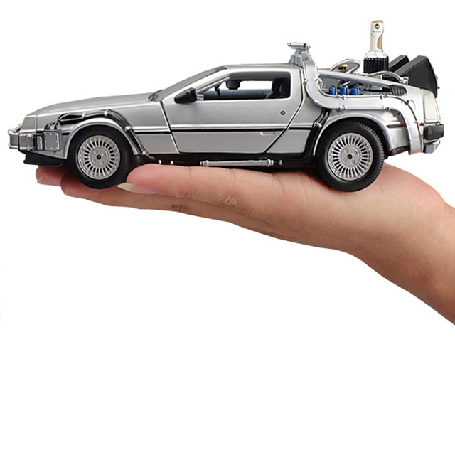 1:24 Mini Model Alloy Die cast Car DMC-12 Back To The Future Pull Back Inertia Metal Diecast Car Collection Gifts Toys for boys 1