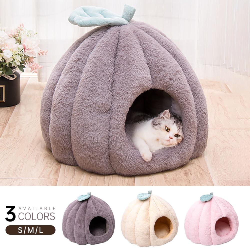 Зимняя Съемная кровать для кошки, домик для собаки, коврик для сна, зимняя теплая моющаяся подушка для питомца, домик для щенка, мягкая плюше...