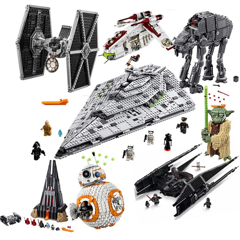 Compatible Lepining Star Wars 75179 Toys The Tie Model Batman Sets  Building Blocks Brick Boys Starwars 75190 75192 75187