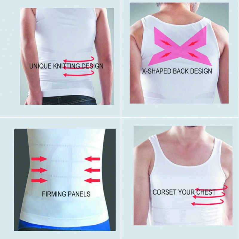 Жилет для похудения для мужчин пояс утягивающий Контроль Нижнее белье Пояс для похудения компрессионная рубашка Ultra Lift Body для похудения