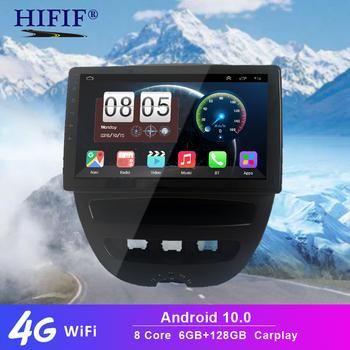 Z systemem Android 10 2 Din samochodowy odtwarzacz multimedialny dla Peugeot 107 Toyota Aygo Citroen C1 2005-2014 Radio stereofoniczne z GPS nawigacji tanie i dobre opinie HIFIF CN (pochodzenie) podwójne złącze DIN 10 1 4*45W JPEG 1280*720 1 8kg bluetooth Wbudowany GPs Odtwarzacze mp3 Tuner radiowy