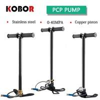 4500psi 300bar 30MPa 3 stage PCP high pressure pump manual PCP compressor Pentium air gun hunting pump Submersible gas pump