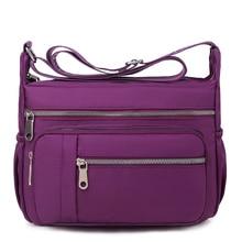 Waterproof Nylon Multi-pocket Casual Lady Shoulder Bag Simple Small Square Harajuku Handbag Large Capacity Solid Color