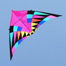 Купить с кэшбэком free shipping high quality rainbow kite reel set handle kites tail triangle drachen kites-for-adults sail wind spinner fish