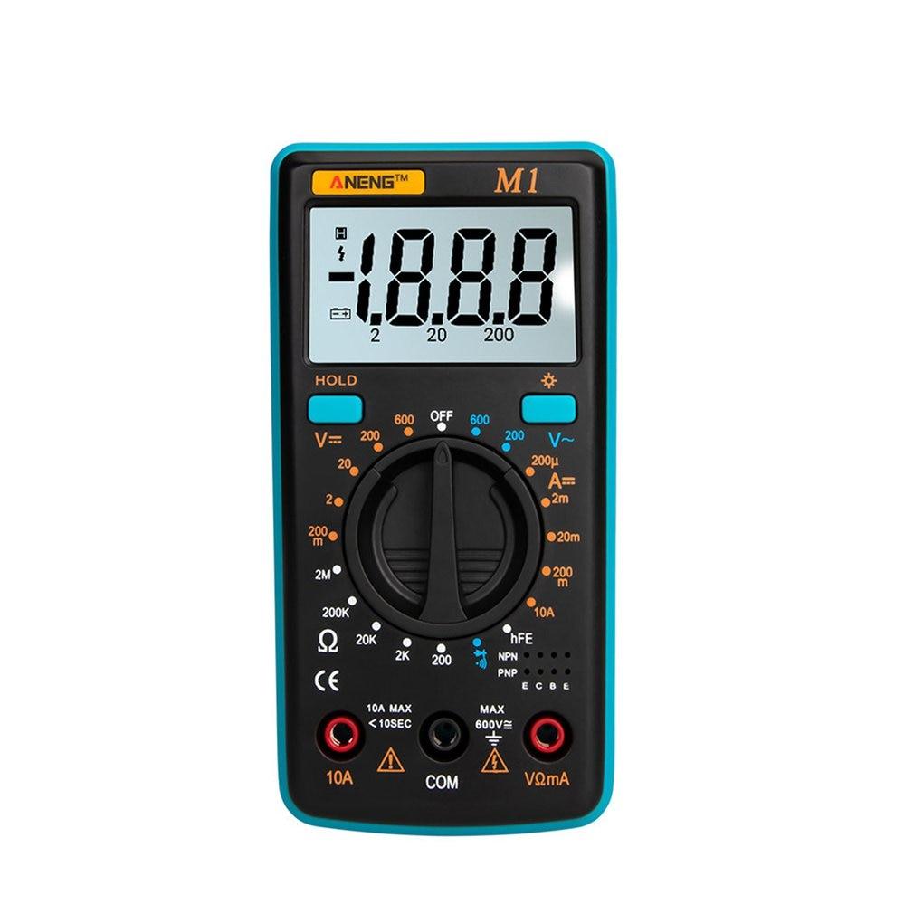 Car Digital Multimeter Backlight Ac Dc Ammeter Voltmeter Ohm Portable Meter Voltage Transistor Test Multi Meter