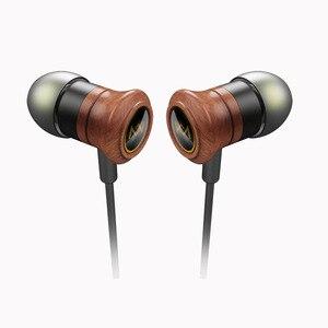 Проводные наушники Wooden HiFi Музыкальная гарнитура наушники-вкладыши нейлоновый плетеный кабель с микрофоном спортивные наушники для Android ios