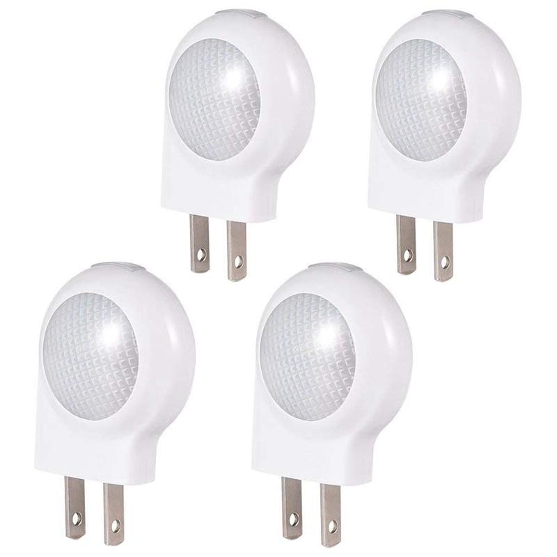 Led Motion Sensor Night Lights Dusk-To-Dawn Sensor, Bedroom, Bathroom, Kitchen, Hallway, Stairs, Energy Efficient, Compact,4-Pac