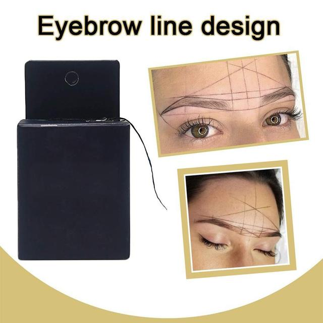 10m Pre-inked Brow Line String Eyebrow Marker New Microblading Marker Eyebrow Tattoo Thread For Mapping Point Brows F4G4