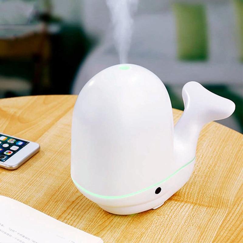 Humidificateur d'air de baleine ultrasons Usb arôme diffuseur d'huile essentielle brumisateur aromathérapie pour la maison bébé chambre