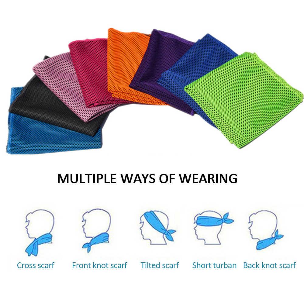 1 pièces sport refroidissement serviette de sueur séchage rapide serviette froide hommes et femmes fitness séchage rapide tissu de glace nage équitation textile
