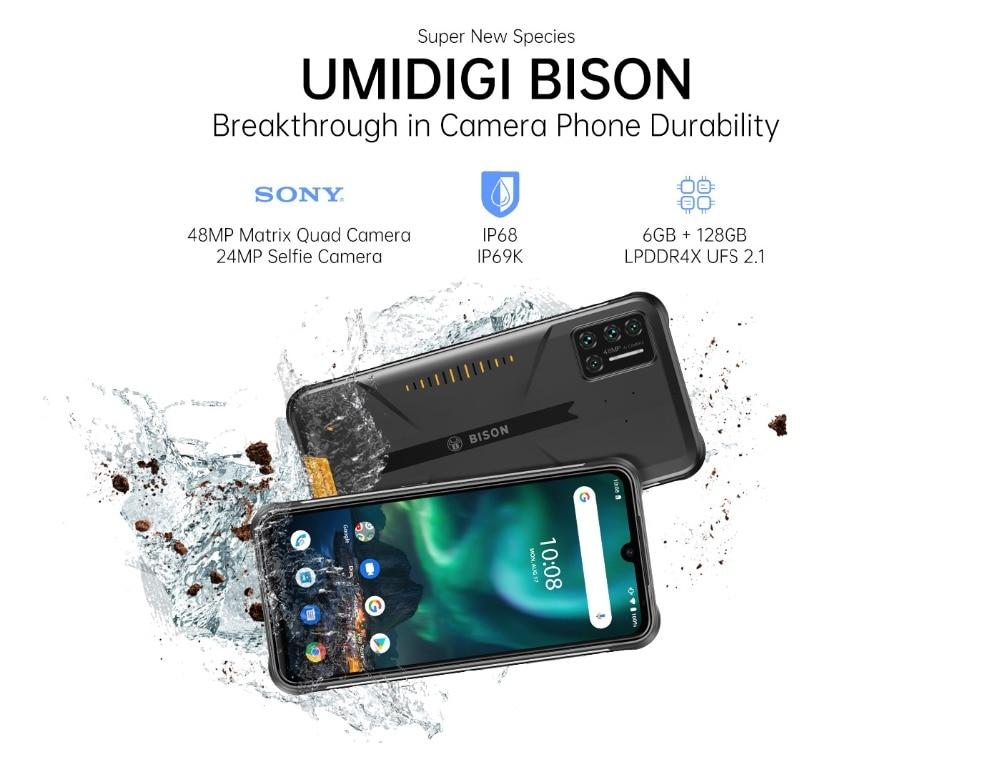 UMIDIGI BISON IP68/IP69K Waterproof, Rugged  8