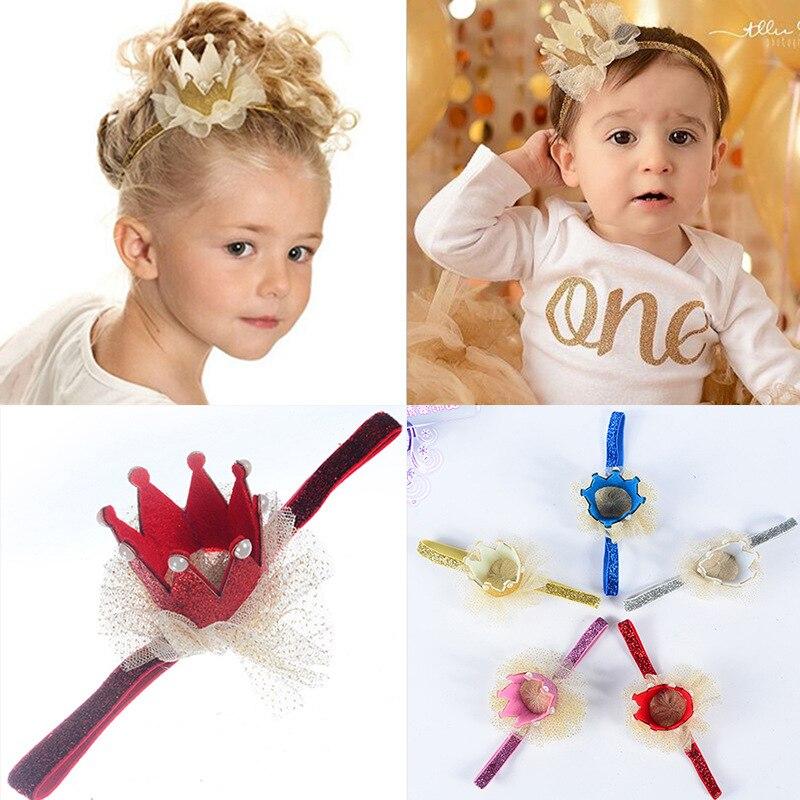 Multi-camada de Gaze Bandas de Cabeça do Bebê Lote Faça Você Mesmo Simples Pérola Estéreo Coroa Brilhando Headbands Ferramentas Hair Styling Acessório Ha999 200 Pçs –