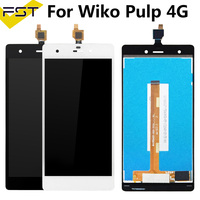 Good Quality For Wiko Pulp 4G LCD Display + Touch Screen digitizer Assembly For Wiko Pulp 4G Free Shipping with Tools Mobile Phone LCD Screens     -