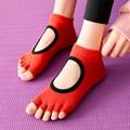 Профессиональные носки для йоги с пятью пальцами, дышащие нескользящие носки с открытым носком для пилатеса, женские носки для фитнеса, нос...