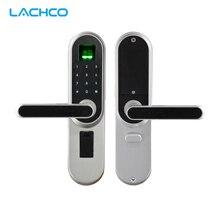 2020 impressão digital fechadura da porta inteligente, código, tela sensível ao toque, senha digital biométrica chave de bloqueio eletrônico para casa office lk01