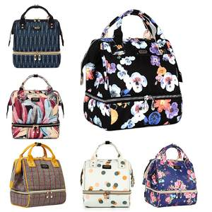 Backpack Large-Capacity Nappy Separation Mommy-Diaper Nursing-Bag Multi-Functional Floral