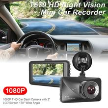 Dash Cam 1080P Full HD Night Vision Mini Car DVR Ehicle Data Recorder Camera With 3 Inch LCD Screen Motion Detection
