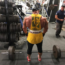 Male Sleeveless Vest Shirts Gyms Tank Top Men Fitness Clothing Mens Bodybuilding Tank Tops 2021 Gym Summer New Clothing