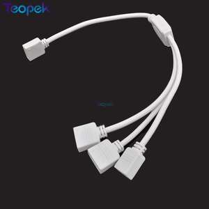 Led-Splitter-Connector Led-Strip Female 5-Pin for RGB RGBW 1-To-2 Extension-Wire-Cable