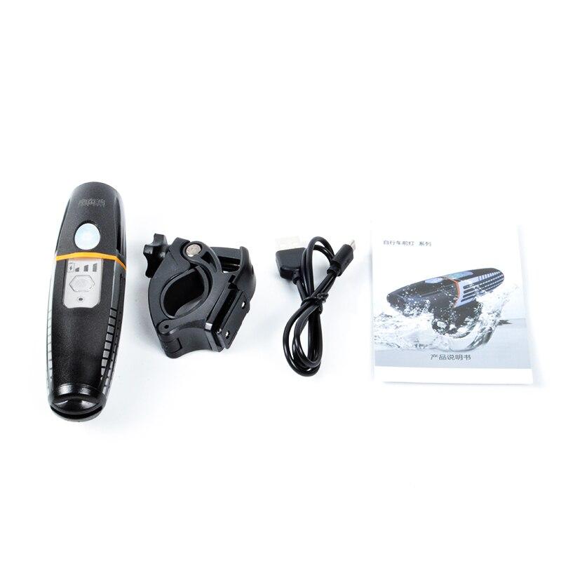 Купить с кэшбэком Joshock Bicycle Light Rainproof USB Rechargeable Electro-Optic Sensing Smart LED 2200mAh MTB Front Lamp Headlight  Flashlight