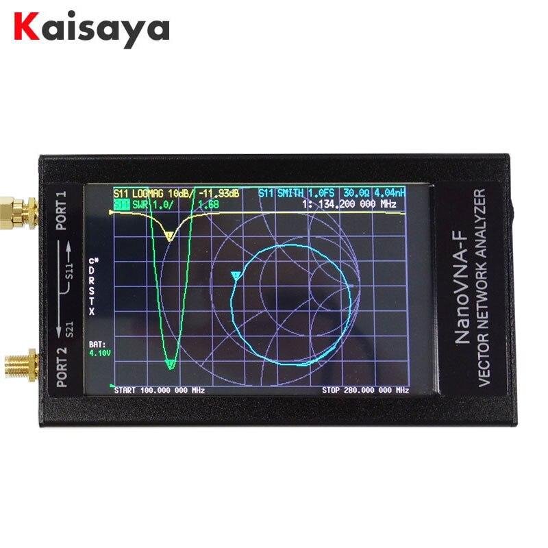 Analyseur d'antenne réseau vecteur NanoVNA VNA HF VHF UHF + 4.3 pouces IPS LCD + boîtier en métal + batterie 5000mAh