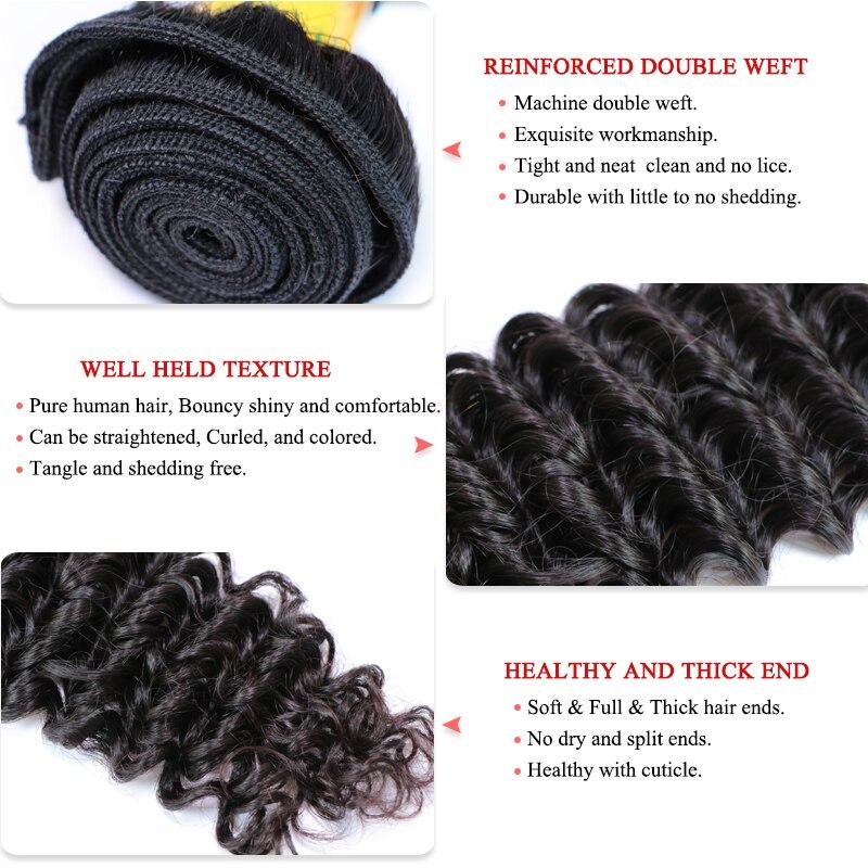 Перуанские натуральные волнистые волосы в пучках, 100% человеческие волосы в пучках, натуральные волосы, бесплатная доставка, королевские волосы - 2