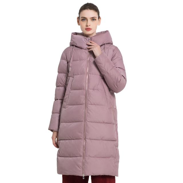 ICEbear 2019 Новинка  зимняя женская куртка Длинное женское пальто Толстая теплые Женские хлопчатобумажные модные куртки высокого качества с капюшоном парки марка Женская одежда GWD18238I