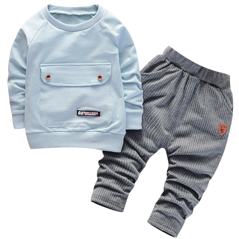 2020 Hot Sell Fashion Girl Boys Clothing Sets Long Sleeve Striped Hoodies Unisex Suits 2pcs Children Clothes Hooded For Kids