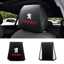 2pc Auto poggiatesta cuscino supporto collo supporto coprisedili Car Styling per Peugeot 206 308 307 207 208 3008 407 508 2008 RCZ Auto