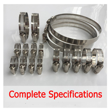 2pcs Stainless Steel Hose Clamp Adjustable Drive Hose Clamp Fuel Line Worm Clip Hoop for Exhaust Pipe Hose Clip Anti-oxidation 60pcs adjustable 8 38mm range stainless steel fuel line pipe worm gear drive hose hoop pipes clamps assortment kit spring clip