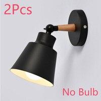 Black NO Bulb 2Pcs