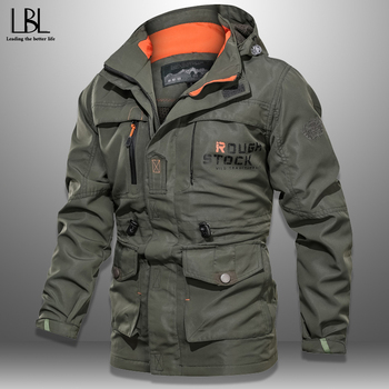 Autumn Winter Jacket Men Bomber Coat Tactical Jacket Mens Jacket Zipper Coat Windproof Jacket Waterproof Wear-resistant Jacket фото