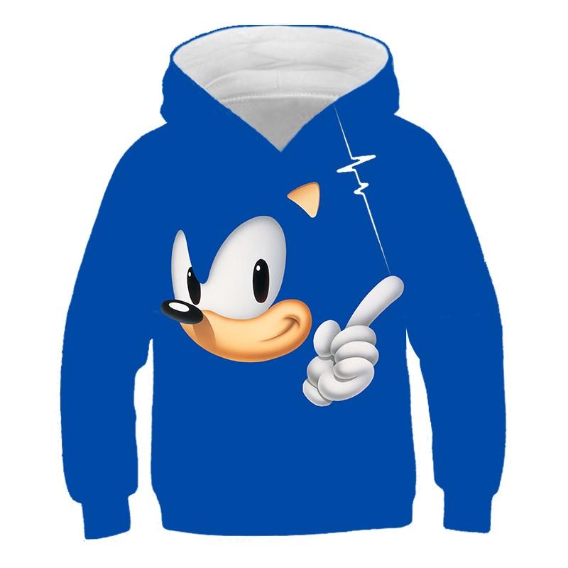 Hoodies Boys Girls Clothes Sonic The Hedgehog Hoody Outerwear Kids Hooded Sweatshirt Children Pullover Teenagers Tops Wear Hoodies Sweatshirts Aliexpress