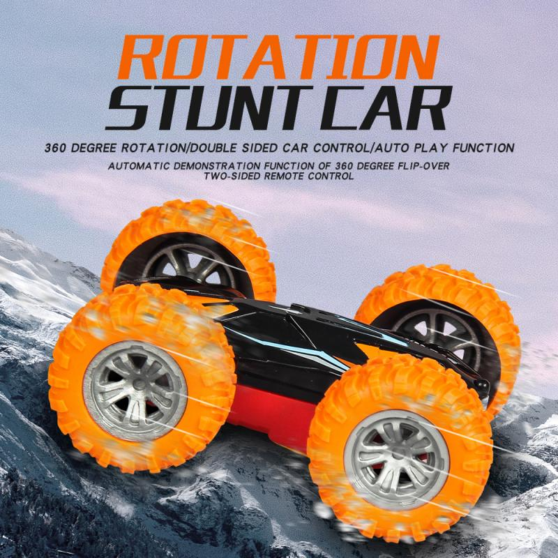 RC Car 360 Degree Roll Double Sided Stunt Car High Speed Rotating Toy Car Cool Headlight Children's Toy Car for Christmas enlarge