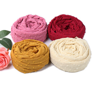 Image 4 - Écharpe en mousseline de soie, 10 pièces, voile, Hijab, malaisie doux, foulard musulman, Long, bandeau arabe, vente en gros