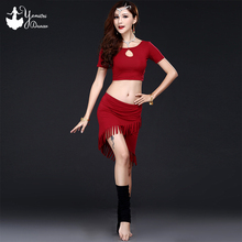 2020 Spring New Bellydance Daily Exercise Costume High Quality Modal Bra Style Tops Fashion Sexy Tassel Dancing Skirts Womens