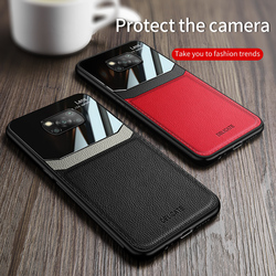 For Xiaomi Poco X3 NFC Case Leather Glossy Back Cover Soft Bumper Phone Case For Xiomi Poco X3 NFC Fundas