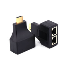 1 Pair HDMI Dual RJ45 CAT5E CAT6 UTP LAN Ethernet HDMI Extender Repeater Adapter 1080P For HDTV HDPC PS3 Set top box hdmi over 30 meters rj45 cat6 cat5e utp lan cat 6 ethernet cable balun extender hd 1080p hdtv rj45 cable connector