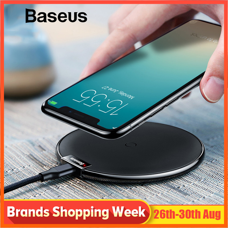 Baseus Charger-Pad Note Samsung Wireless-Charging iPhone X 10W for XS Max-Xr S9