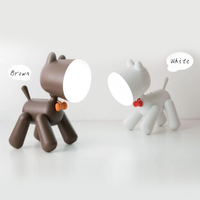 USB Desk Lamp Two-stage Control Puppy Shape Cute Child Night Light Reading Night Lamp