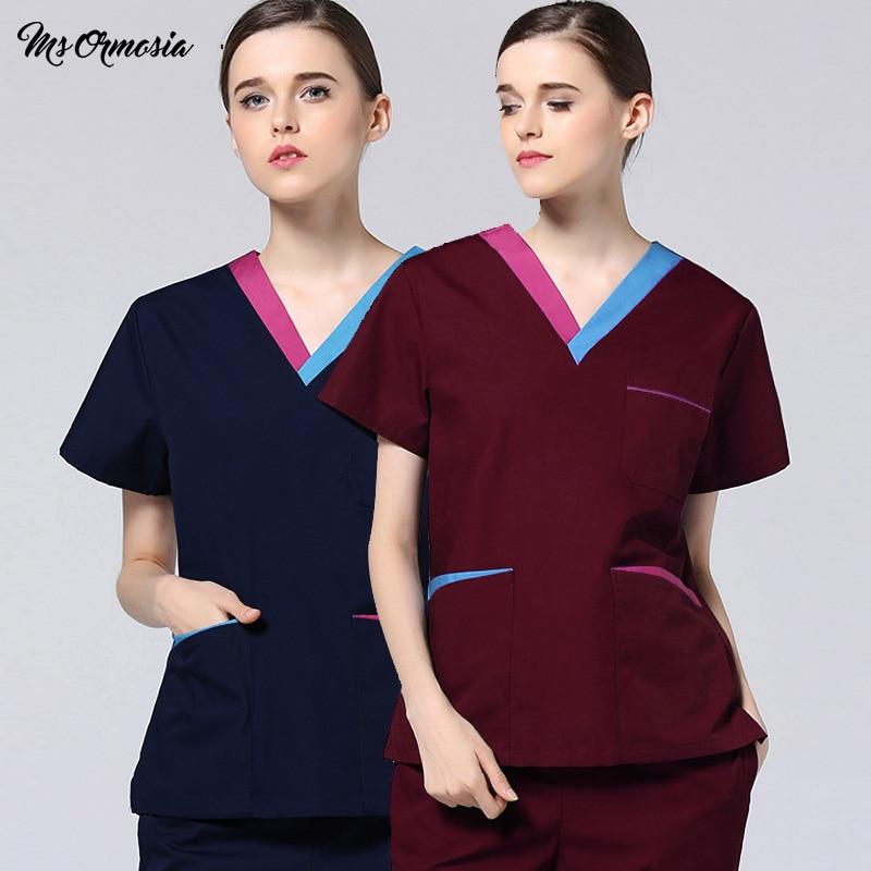 New Doctor Suit Hospital Dental Beauty Salon Man Surgery Work Clothes Long Sleeve Nurse Uniform Solid Color Medical Scrubs Set