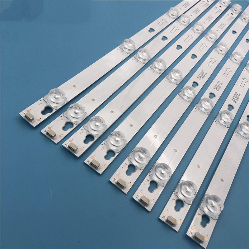 New 5set=40pcs LED Backlight Strip For L55P2-UDN TOT-55D2900 JL.D55051330-004ES-M JL.D55041330-004ES-M B55A658U 55U6700C 55D2900