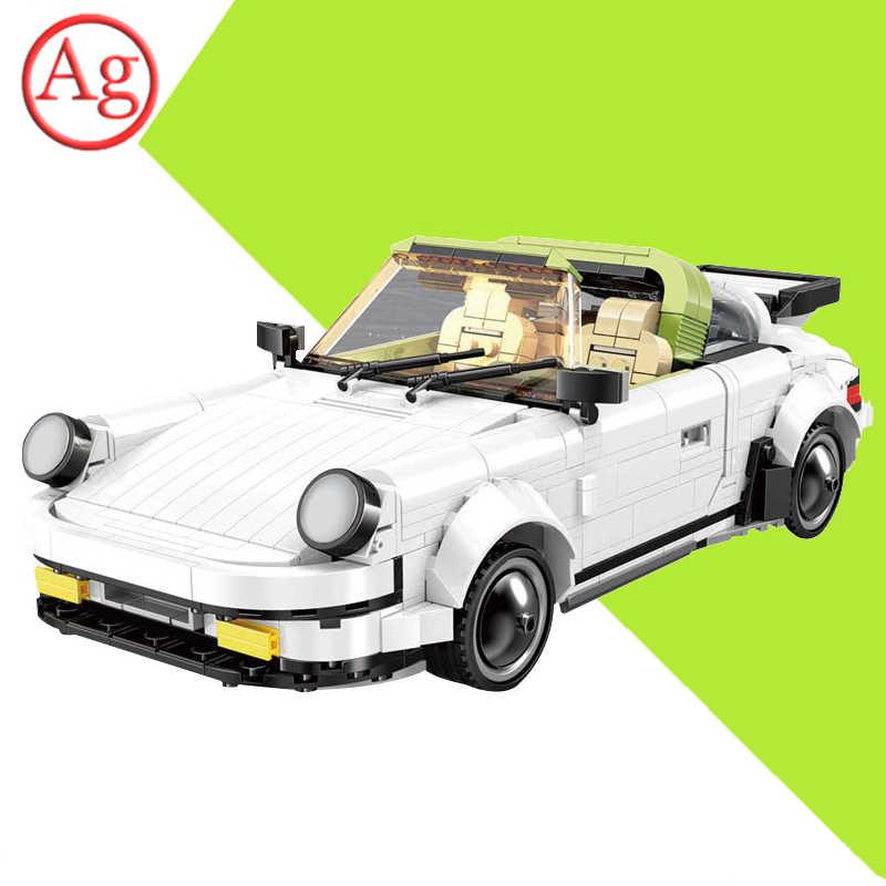 Moc kompatybilny Legoed Technic Cars Targaed samochód sportowy zestaw klocków cegły edukacyjne zabawki dla dzieci prezent na boże narodzenie 882 sztuk