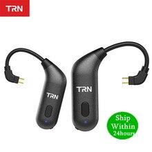 TRN BT20S APTX Bluetooth 5.0 Tai Móc MMCX/2Pin Tai Nghe Nhét Tai Cáp Adapter Bluetooth Cho VX BA5 IM2 X6 v30 V20 ZS10 F3 T2 S2 V90 M1