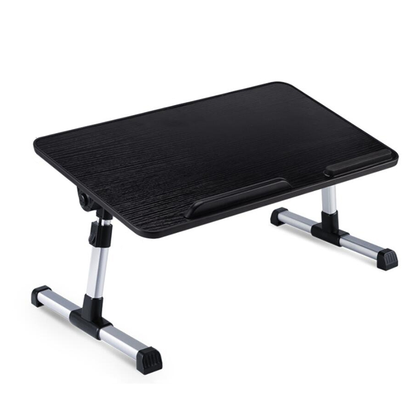 Black Adjustable Laptop Desk Stand With Cooling Function 52 X 30cm