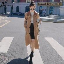 Японский стиль 2020 осеннее шерстяное пальто женская одежда