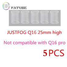 5pcs FATUBE Straight Glass tank tube for Justfog Q16 2ML/ Justfog Q16 Pro 1.9ml/Justfog Q14/Justfog C14 1.8ml tank Starter Kit(China)